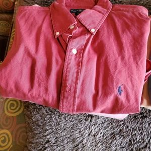 Mens Ralph Lauren dress shirts lot of 4